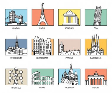 Europe landmarks and favorite travel destinations