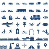 Photo Transportation icons set