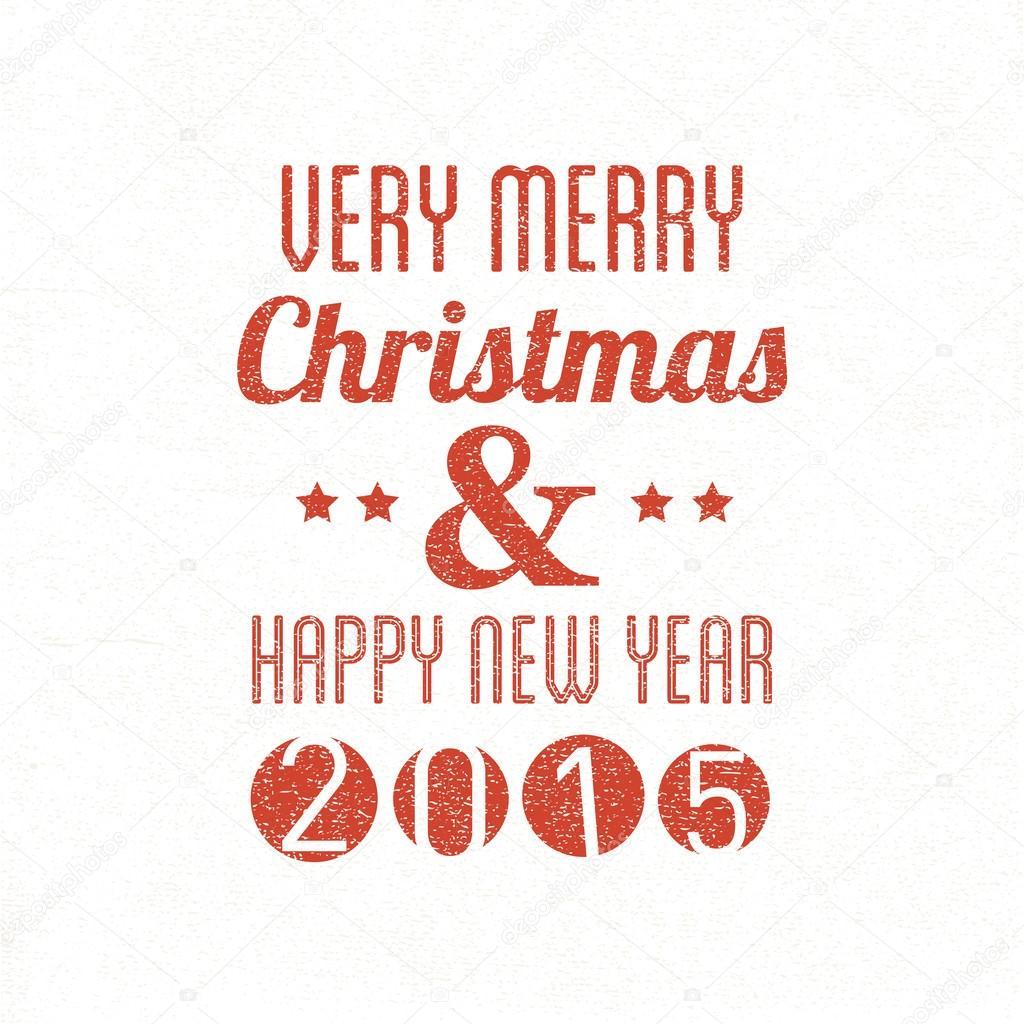 Frohe Weihnachten & Happy New Jahr schreiben — Stockvektor © radoma ...