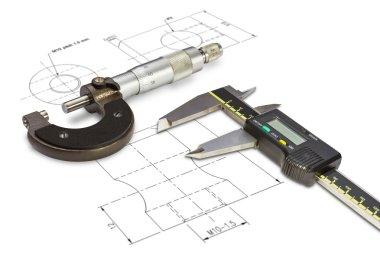 Micrometer and digital vernier calipers