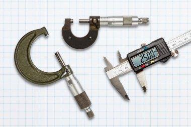 Micrometers and digital vernier calipers