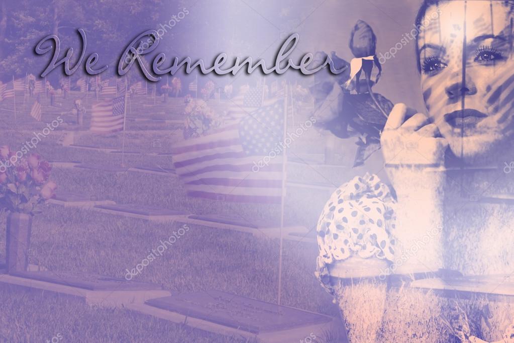 Double Exposure - Patriotic Vintage - We Remember