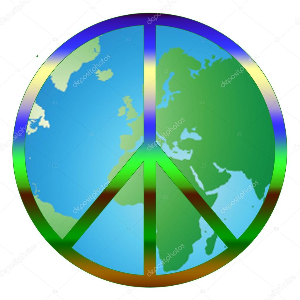 World peace graphic with peace sign over world stock photo world peace graphic with peace sign over world stock photo biocorpaavc