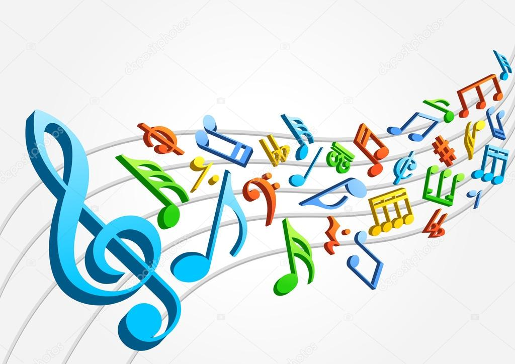 colored musical notes stock vector dmitrydesign 88998664