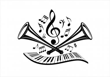 Musical illustration design