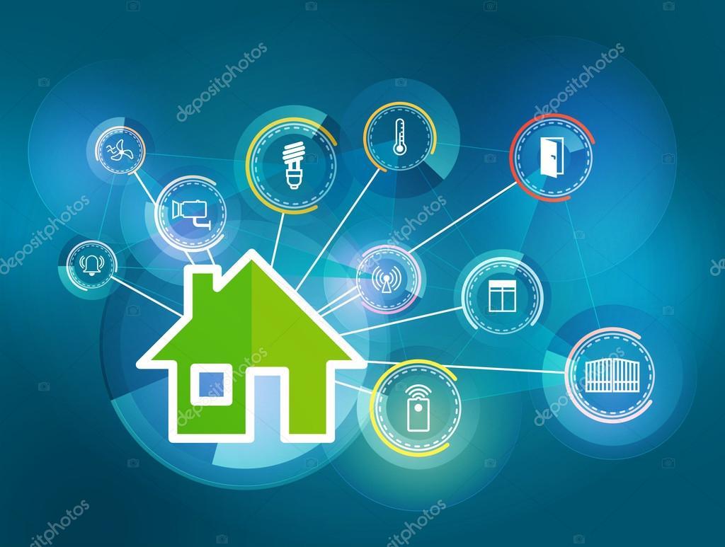 illustration of smart house