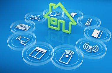Render 3d intelligent house