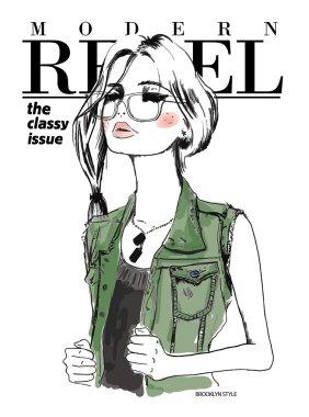 fashion girl in eyeglasses