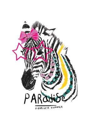 glamour zebra with stars