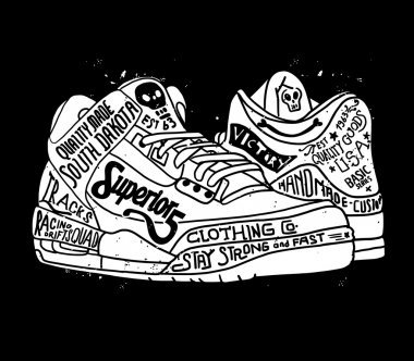 design sneakers with skulls