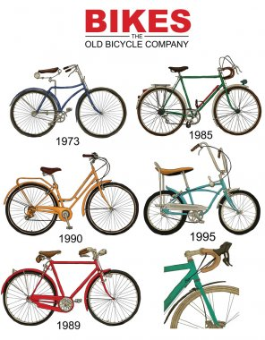 retro vintage bicycles