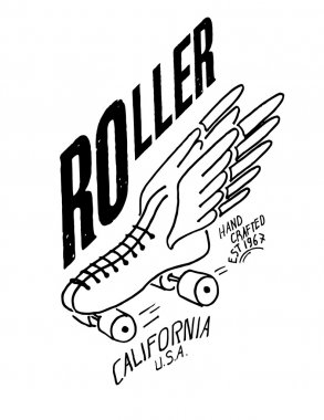 emblem roller skate with wings