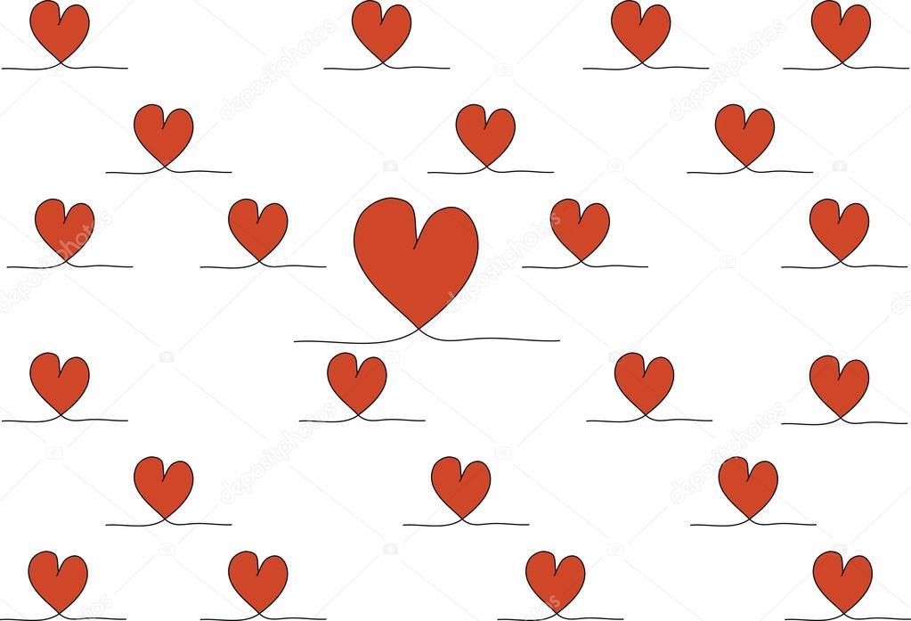 Lager-Foto Hand gezeichneten stilvolle Liebe Herz Muster — Stockfoto ...