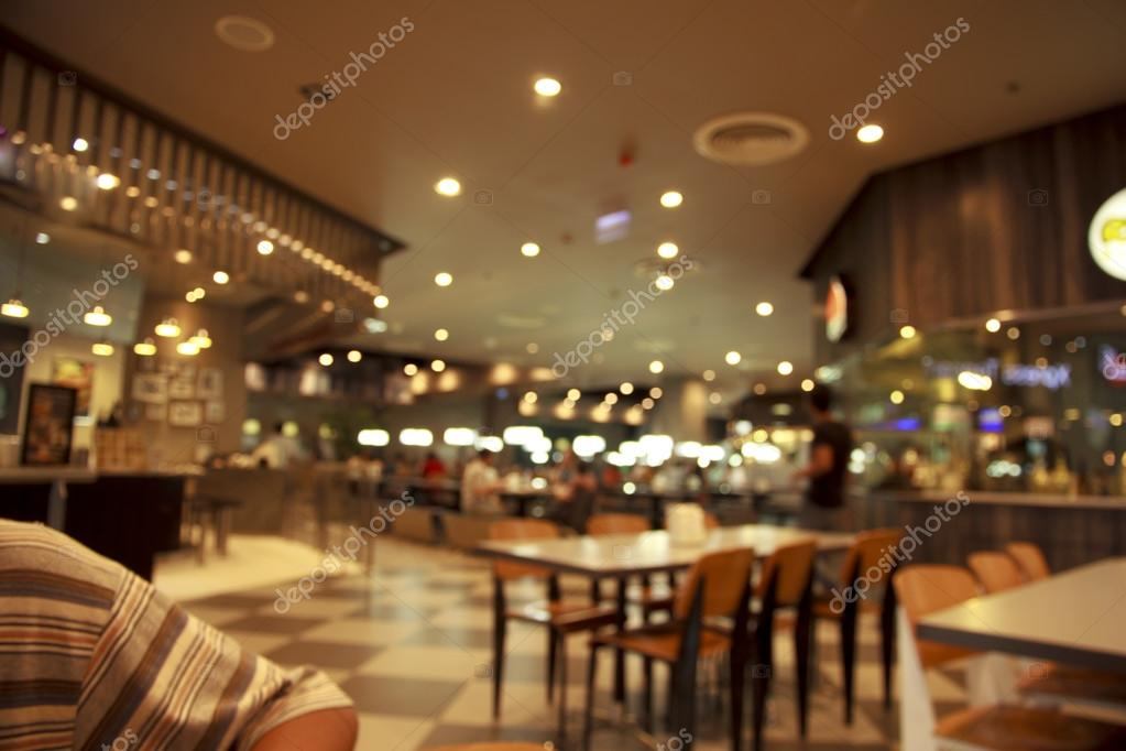 Restaurant Background With People blurred people cafe shop interior background — stock photo