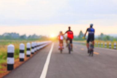 Stock Photo - Cyclists competing  with motion blur