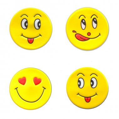 smileys stickers on the theme of love