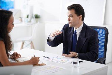 Client explaining his idea