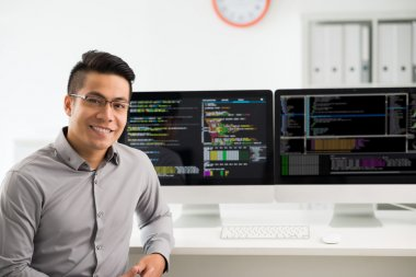 smiling software engineer