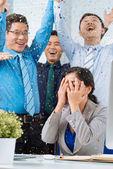 podnikatelé sprcha konfety