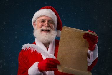 Santa with wish list