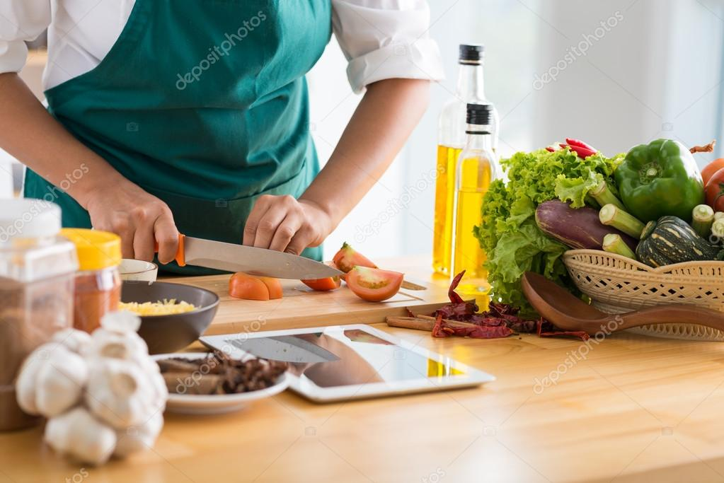 Cooking healthy meal