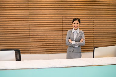 Attractive office receptionist