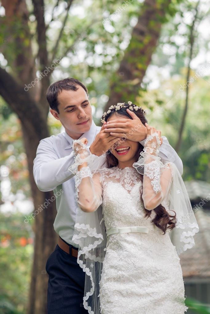 Image result for bride covering her eyes