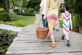 Fotografie Family going to picnic