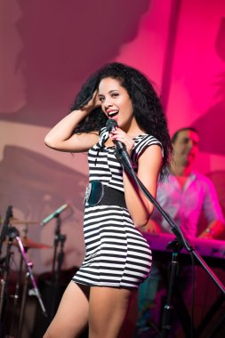 Sensual female singer