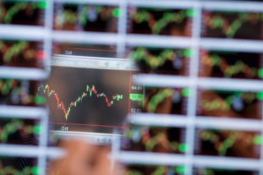 Fragment of stock market chart