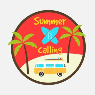summer is calling design badge