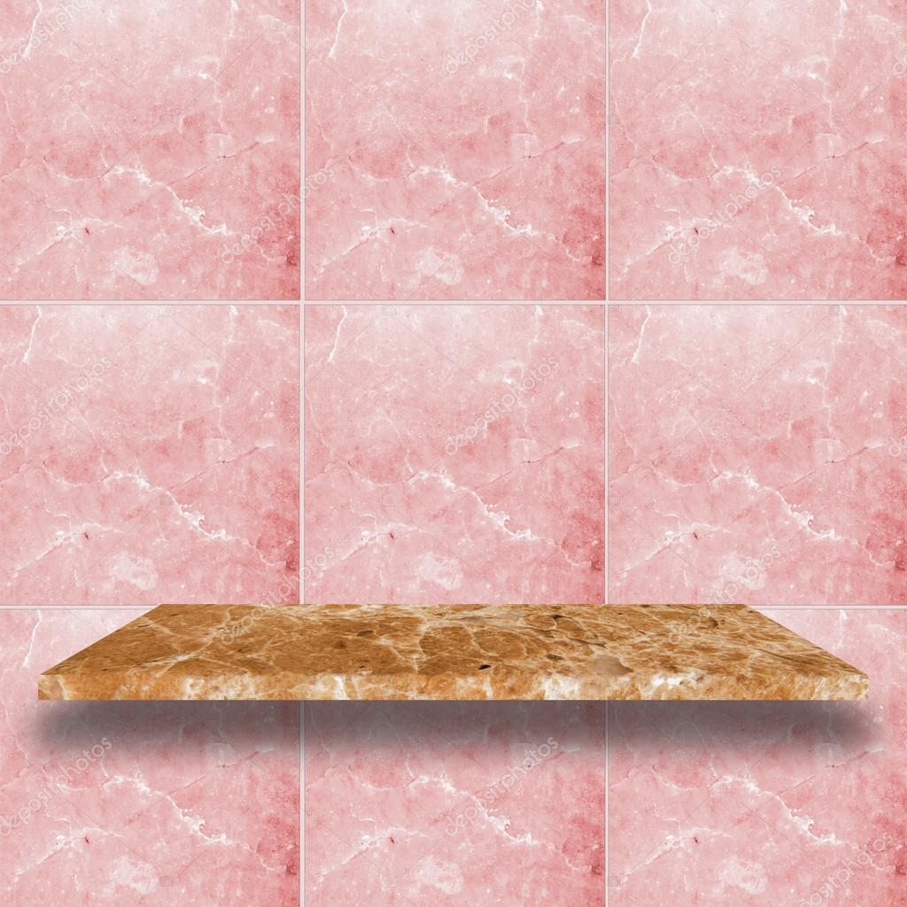 Estantes de m rmol superior con pared de m rmol color de for Color marmol rosa