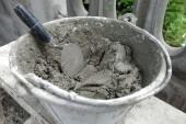Fotografie Zement-Rührschüssel auf Baustelle