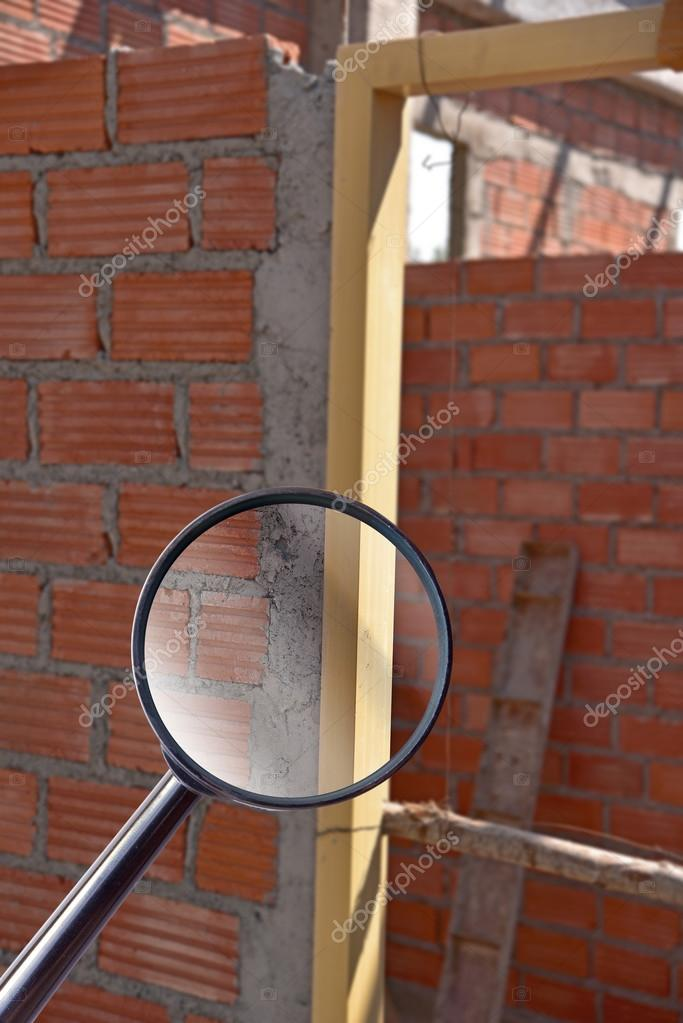 Magnifying Glass Over Door Frame Installed In Construction Site