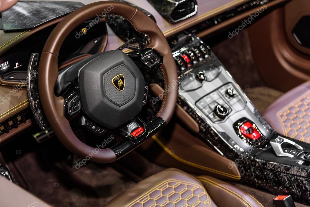 BANGKOK   DECEMBER 01 : Inside Of Lamborghini Huracan Spyder LP 610 4 On  Display At The 32nd Thailand International Motor Expo 2015 On December 01,  ...