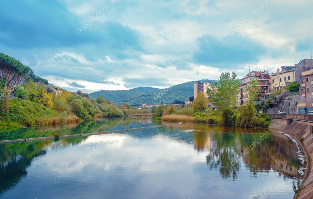 Landscape across the river in Tivoli