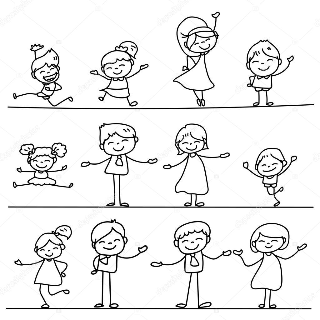 Imágenes Conjunto De Personas Para Dibujar Conjunto De Personas