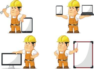 Strong Construction Worker Mascot 12