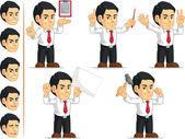 Kancelář pracovník přizpůsobitelné maskot 10