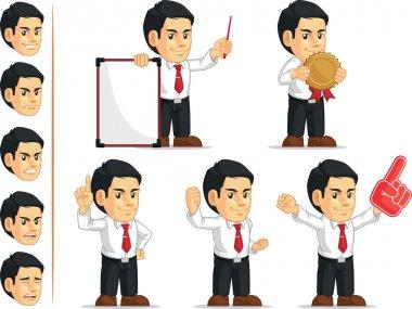 Office Worker Customizable Mascot 3