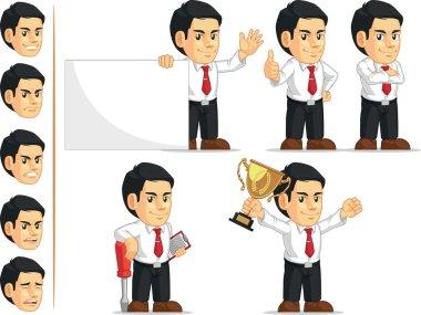 Office Worker Customizable Mascot 2