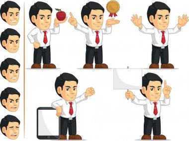 Office Worker Customizable Mascot 11