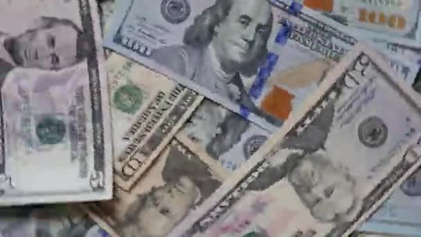 Rolling Us Dollar Notes Background