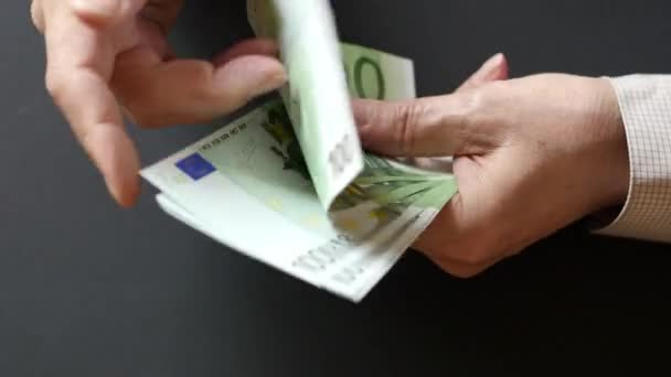 Close Up Of Man Counting Money Euro