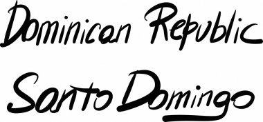 Dominican Republic, Santo Domingo, hand-lettered