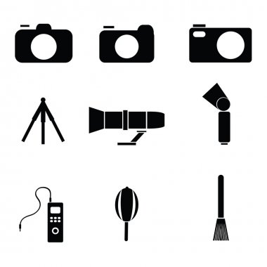 Photography silhouette black icon