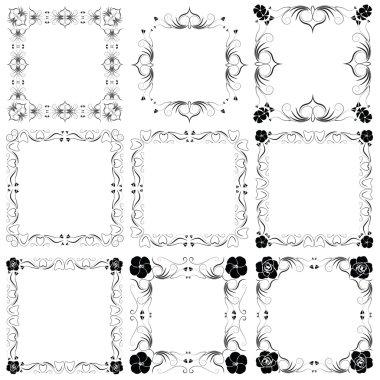 The vector decorative frames