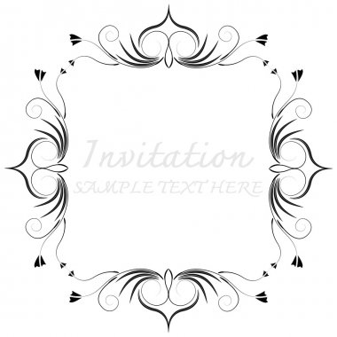 The vector decorative frames
