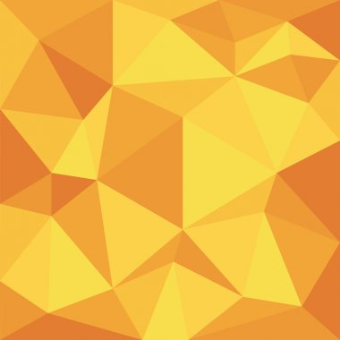 Abstract orange with polygonal pattern on the wall