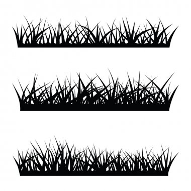 black  silhouette of grass